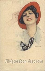Series no. 21-4 Artist Signed Giovanni Nanni (Italy) 1917 crease left bottom ...