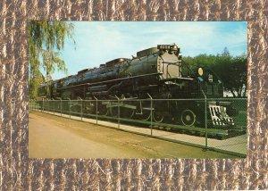 Coal Burning Locomotive & Tender Postcard Train Railroad Unused Wyoming
