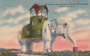New Jersey Atlantic City Elphant Hotel Margate City 1940