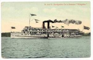 R. and O. Navigation Co.'s Steamer  Kingston ,PU1909