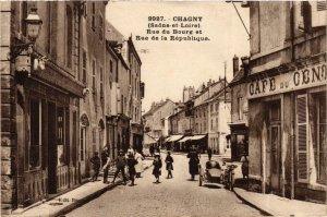CPA CHAGNY Rue du Bourg et Rue de la République (868852)