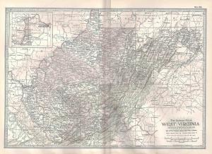 VINTAGE MAP West Virginia c1897 from Century Atlas