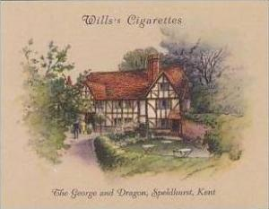 Wills Cigarette Card 2nd Series No 15 George &amp  Dragon Speldhurst Kent