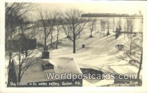 Quebec Canada, du Canada Citadel in the Winter Setting  Real Photo Citadel in...