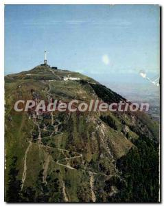Modern Postcard Picturesque Auvergne Puy de Dome Aerial view on the old Roman...