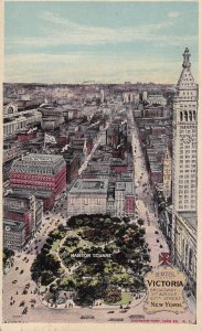 NEW YORK CITY, PU-1912; Aerial View, Hotel Victoria, Madison Square, Swastika