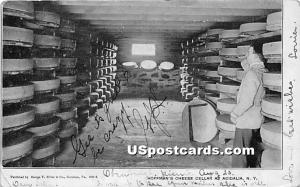 Hoffman's Cheese Cellar Acidalia NY 1907 Missing Stamp
