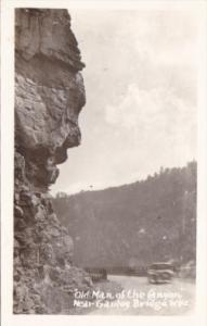 Old Man Of The Canyon Near Gauley Bridge West Virginia Real Photo