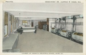 NILES , Illinois, 1900-10s ; Laundry , St Hedwaig's Industrial school
