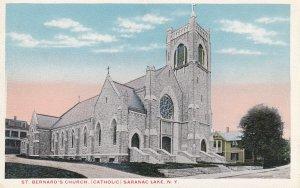 SARANAC LAKE, New York, 1900-1910's; St. Bernard's Church