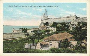 Postcard Morro Castle Cabfia Fortress Havana Cuba