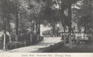 CHICAGO, Illinois, 1900-10s ; Scenic Walk, Riverview Park