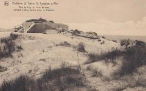 Batterie Wilhelm II Knocke sur Mer Observatory WW1 War Military Belgium Postcard
