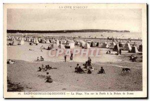 Old Postcard Saint Georges de Didonne The Beach View Foret Pointe Suzac