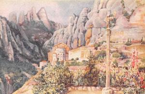 Spain Montserrat Monestir Monasterio Monastery, Acuarelas J. Llaverias