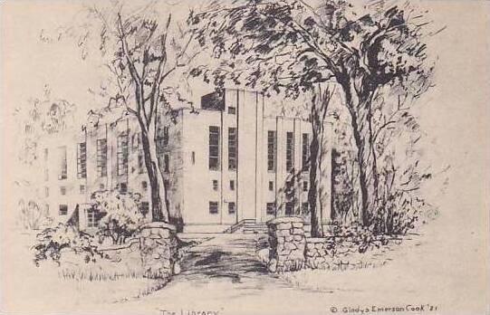New York Saratoga Springs Skidmore College The Library Albertype