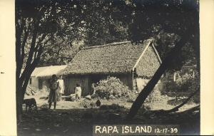 french polynesia, RAPA Island, Byrd Antarctic Expedition III (1939) RPPC (1)