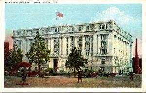 Vtg 1920s Municipal Building Washington DC Postcard