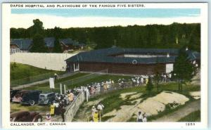 CALLANDER, ONTARIO Canada DAFOE HOSPITAL Playhouse DIONNE QUINTUPLETS Postcard