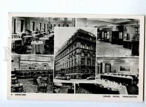 192717 UK MANCHESTER Grand Hotel Vintage photo collage RPPC