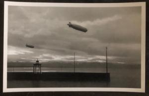 Original RPPC Hindenburg Zeppelin LZ 129 In Flight Real Picture Postcard Mint 5