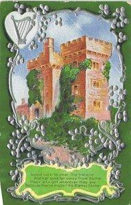 Good Luck St. Patricks Day 1911 scratch on card