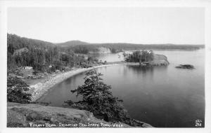 Deception Pass State Park Washington~Rosario Beach~Cabins on Bay~1940s RPPC