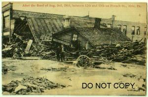 Erie Pa Flood Damage Aug 3rd 1915, French St. 12th - 13th
