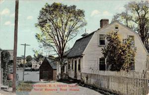 Pawtuxet Rhode Island Naval Reserve Boat House Antique Postcard K12255