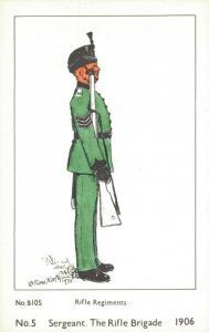 Military - Sergeant The Rifle Brigade Rifle Regiments - 01.98