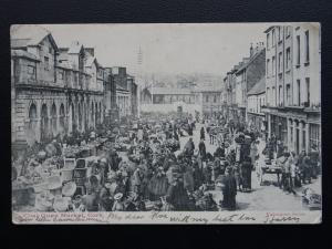 Ireland CORK Coal Quay Market EXCELLENT ANIMATED SCENE c1903 UB Postcard