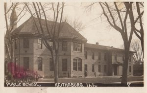 RP: KEITHSBURG , Illinois , 1912 ; Public School & Students (Highlighted by P...