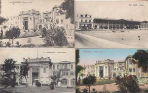 Alexandria Port Said 4x Egypt Egyptian Casino Antique Postcard Gambling Bundle