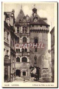 Loches - L & # 39Hotek City saw tace - Old Postcard