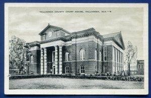 Talladega County Court House Alabama al old Postcard