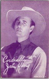 1940s Hollywood Actor MUTOSCOPE Arcade Card JOHN KING Western / Cowboy Movies