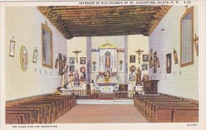 Isleta Interior Of Old Church Of Saint Augustine Isleta New Mexico