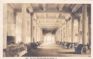 RP: HOT SPRINGS , Virginia , PU-1920; The Foyer, The Homestead