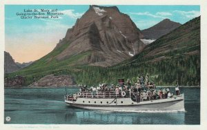 Glacier National Park , Montana , 1910-20s ; Steamer on St Mary Lake