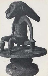 Trevanion Tomotu Island Santa Cruz Seated Tribal Figure Primitive Art Postcard
