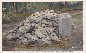 YORK COUNTY, South Carolina, 1900-1910's; The Grave Of Colonel Patrick Fergus...