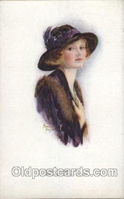 Fair Of Feature Series II No. 2986 Artist Signed Marjorie Mostyn Unused