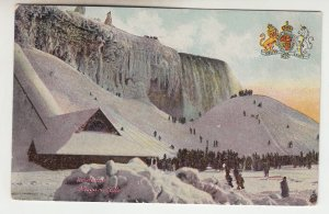 P2174 1909 postcard hugh ice mound niagra falls many people etc
