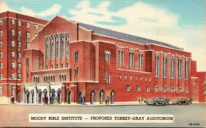 illinois Chicago Moody Bible Institute Proposed Torrey-Gray Auditorium Curteich