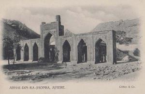 Arhai Din Ka Jhopra Ajmere India Indian Antique Postcard
