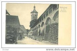 Rothenburg ob der Tauber, Germany pre 1906, Mauerpartie am Klingentor