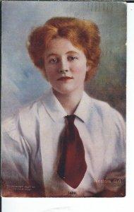 AX-026- Western Girl, Denver Post, 1907-1915 Golden Age Postcard Vintage Pretty