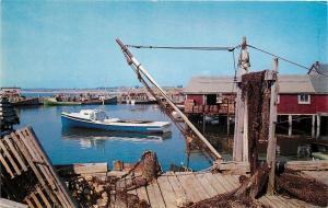 Yarmouth County Nova Scotia~Fishing Boats~Lobster Crates~Nets~Docks~Wharf~1950s