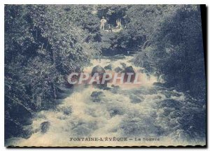 Old Postcard Fontaine L'Eveque The Source