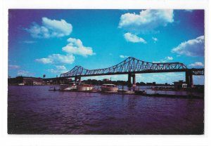 La Crosse WI Mississippi River Interstate Bridge Cruisers at Yacht Club Postcard